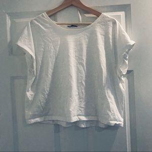 Zara basic white body crop top